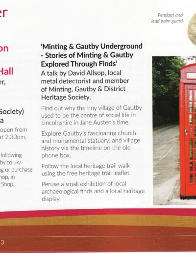 Wolds Words event at Minting Village Hall